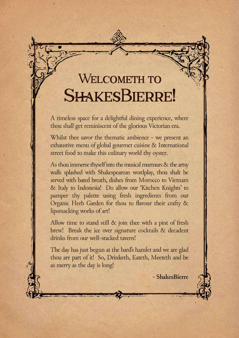 Welcome to ShakesBierre